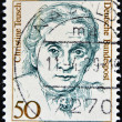 GERMANY - CIRCA 1986: a stamp printed in Germany shows Christine Teusch, Minister of Educations and Cultural Affairs, circa 1986 — Stock Photo