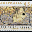 Stock Photo: Stamp printed in Australidedicated to threatened species, shows long-talied dunnart