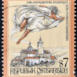 Stamp printed in Austria shows The Cruel Lady of Forchtenstein Castle, Burgenland — Stock Photo