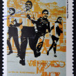 A stamp printed in Chile shows movie poster: Valparaiso my love — Stock Photo