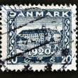 Stamp printed in Denmark shows Sonderborg Castle — Stock Photo #12429160