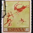 Stock Photo: Stamp printed in Spain shows prehistoric art in regicave - Castellon