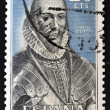 A stamp printed in Spain shows Alvaro de Bazan — Stock Photo