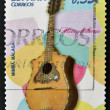 Royalty-Free Stock Photo: A stamp printed in Spain shows a mandolin