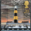 Stamp printed in Great Britain shows St John's Point Lighthouse, County Down — Stock Photo #12429364