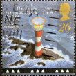 Stamp printed in Great Britain shows Smalls Lighthouse, Pembrokeshire — Stock Photo #12429368