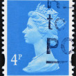 Stamp printed in Great Britain showing Portrait of Queen Elizabeth 2nd — Stock Photo