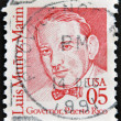 A stamp printed in USA shows Luis Muñoz Marin, Governor, Puerto Rico — ストック写真