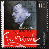 GERMANY- CIRCA 2000: stamp printed in Germany shows Friedrich Ebert , President of German Reich, circa 2000 — Stock Photo