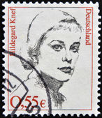 GERMANY - CIRCA 2002: A stamp printed in Germany, shows the actress Hildegard Knef, circa 2002 — Stockfoto