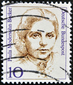 GERMANY - CIRCA 1988: A stamp printed in Germany shows Paula Modersohn-Becker, Painter, circa 1988 — Stock Photo