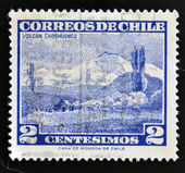 A stamp printed in Chile shows Choshuenco volcano — Stock Photo
