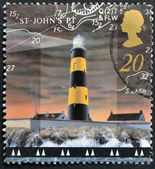 A stamp printed in Great Britain shows St John's Point Lighthouse, County Down — Stock Photo