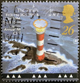 A stamp printed in Great Britain shows Smalls Lighthouse, Pembrokeshire — Stock Photo