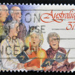 A stamp printed in Australia shows Church Choir — Stock Photo
