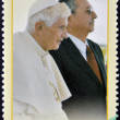 Raul Castro and Pope Benedict XVI — Stock Photo