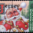 Stock Photo: Stamp printed in Jersey shows SantClaus