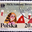A stamp printed in Poland dedicated to tales of Hans Christian Andersen - Stock Photo