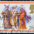 A Stamp printed in Great Britain showing the Christmas Carol We Three Kings — Stock Photo