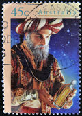 Stamp printed in Australia shows Wise man — Stock Photo
