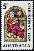 Un sello impreso en australia muestra natividad, navidad — Foto de Stock