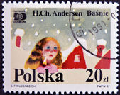 A stamp printed in Poland dedicated to tales of Hans Christian Andersen — Stock Photo