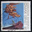 Постер, плакат: A stamp printed in Germany shows the work After we Motherhood by Max Ernst