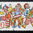 A stamp printed in Germany dedicated to the 150th anniversary of the Cologne Carnival — Stock Photo