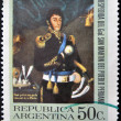 A stamp printed in Argentina shows General Jose de San Martin - Stock Photo