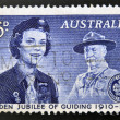 Stamp printed in Australidevoted to golden jubilee of guiding — Stock Photo #12755862