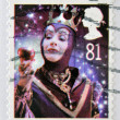 Stock Photo: A christmas stamp printed in Great Britain shows The Wicked Queen from Snow White