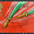 A stamp printed in Great Britain shows Peter Pan — Stock Photo