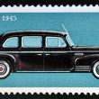 Stock Photo: Stamp printed in Russishows ZIS 110 limousine car manufactured by ZIL