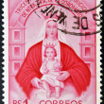 Постер, плакат: A stamp printed in Venezuela shows Our Lady of Coromoto