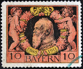 A stamp printed in Bavaria shows Prince Regent Luitpold of Bavaria — Stock Photo