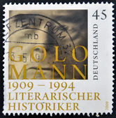 A stamp printed in Germany shows Golo Mann — Stock Photo