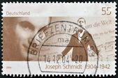 A stamp printed in Germany shows Joseph Schmidt — Stock Photo