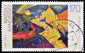 一枚邮票,印在德国由瓦西里显示茂瑙与彩虹康定斯基 — 图库照片