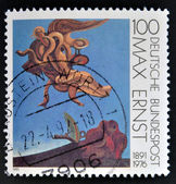 "A stamp printed in Germany shows the work ""After we Motherhood"" by Max Ernst — Foto de Stock"