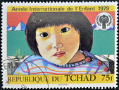 Stämpel tryckt i Tchad tillägnad internationella året för barnet — Stockfoto