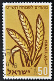 A stamp printed in Israel shows wheat spikes — Stock Photo