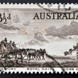 Stock Photo: Stamp printed in Australia, dedicated to Pioneers of Australia's coaching era, shows Cobb and Company Mail Coach