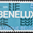 A stamp printed inBelgium commemorating thirty years of the Benelux (economic union of Belgium, Netherlands, Luxembourg) — Stock Photo