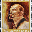 A stamp printed in Hungay shows Lenin — Stock Photo #12881686