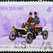 A stamp printed in New Zealanddedicated to Thirteenth International Vintage Car Rally shows Oldsmobile - Stock Photo