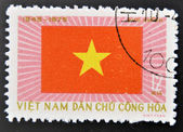 Stamp printed in Vietnam shows Banner — Stock Photo