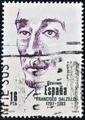Stamp printed in Spain shows Francisco Salzillo — Stock Photo