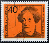 A stamp printed in Germany shows Luise Otto-Peters, writer and journalist — Stock Photo