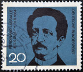 A stamp printed in Germany shows Ferdinand Lasalle, founder of the German Labor Movement — Stock Photo