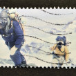 A stamp printed in Great Britain shows Members of 1953 Everest Team (Edmund Hillary) — 图库照片